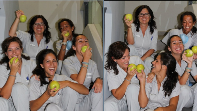 comer manzana salud bucodental
